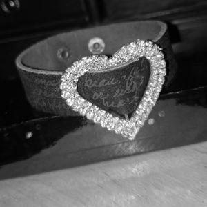 NWOT Reba Bling Leather Bracelet